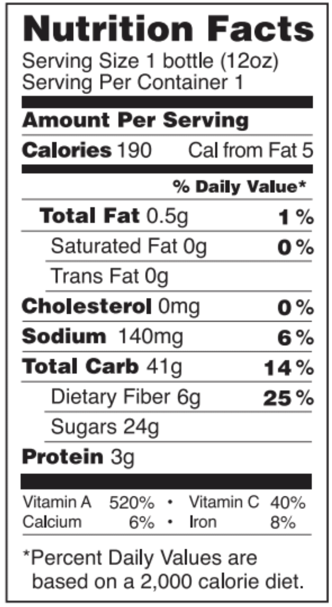 Heart Beets nutrition facts