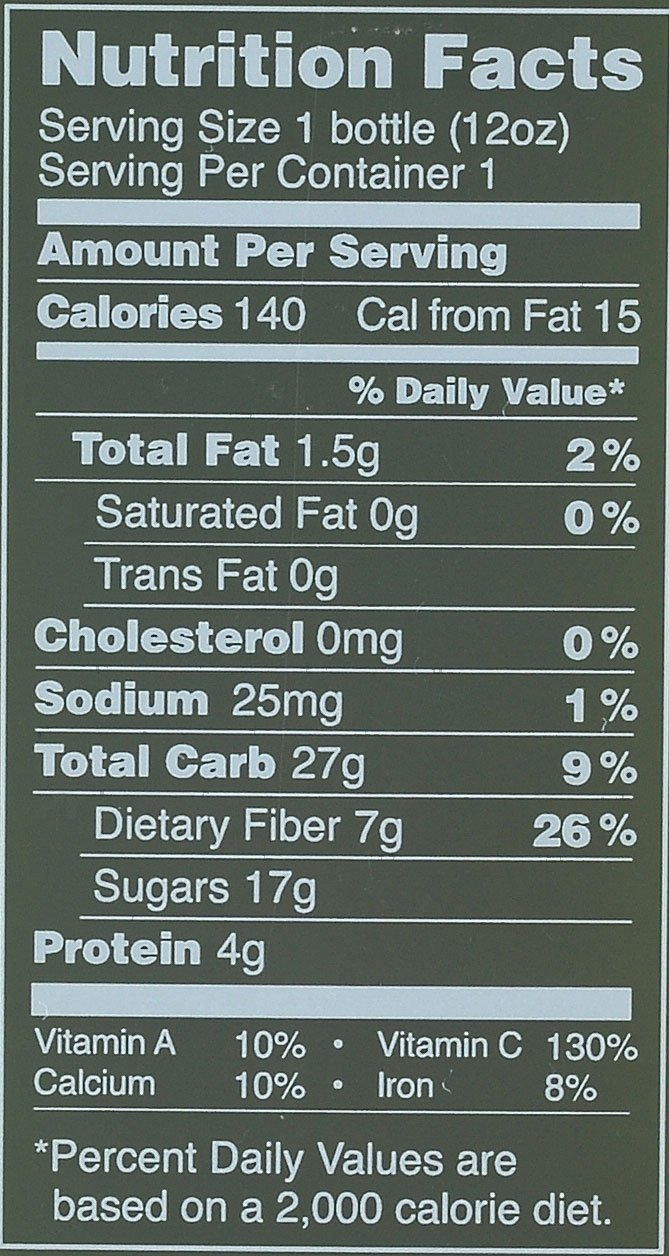 tart cherry boost nutrition facts