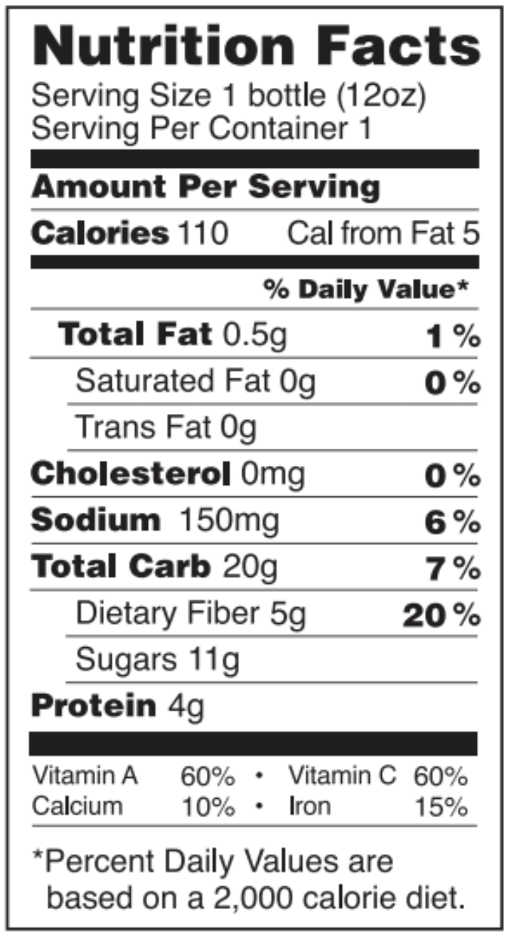 Spirit of life nutrition facts